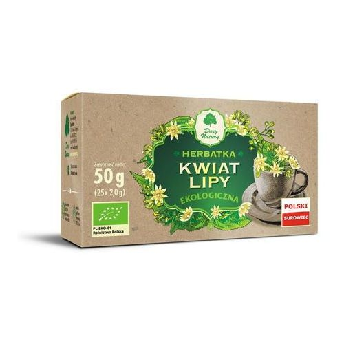 Herbatka z kwiatu lipy bio (25 x 2 g) - dary natury marki Dary natury - test