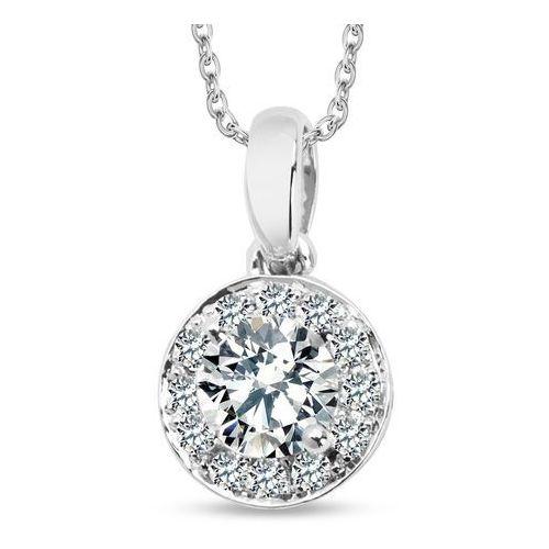 Biżuteria yes Złota zawieszka z diamentami i szafirami