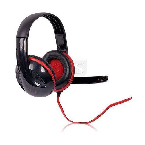 4World Słuchawki nauszne z mikrofonem 4World 09963 (Czarno-czerwony)