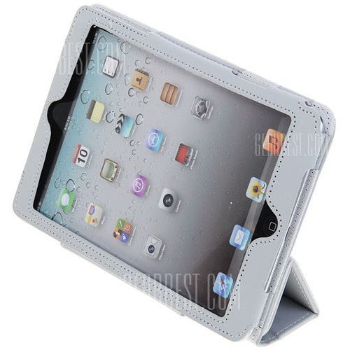 Magnetic Flip PU Leather Cover Case with Stand for iPad Mini ( Gray ), kup u jednego z partnerów