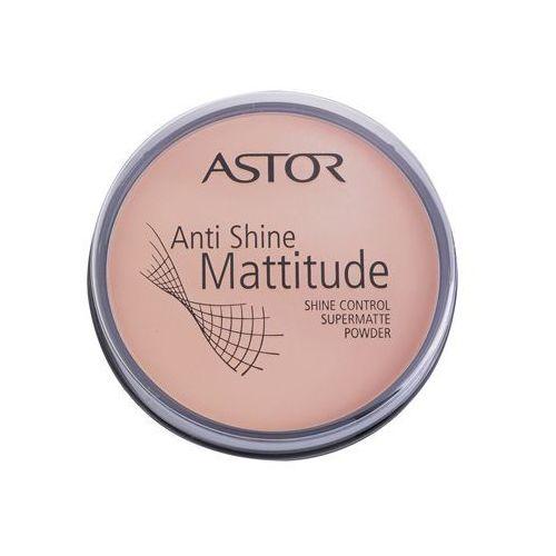 Astor  mattitude anti shine puder matujący odcień 004 sand (supermatte powder) 14 g