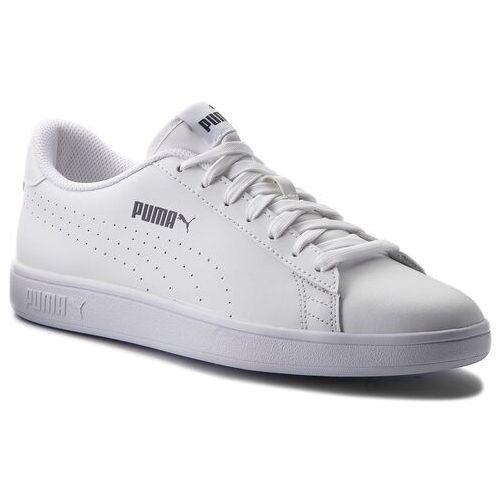 75e01998 Sneakersy - smash v2 l perf 365213 02 puma white/puma white marki Puma