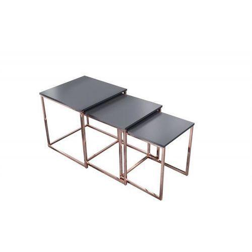 Zestaw stolików TRIO SLIM miedziany - podstawa miedziana (4250243571034)
