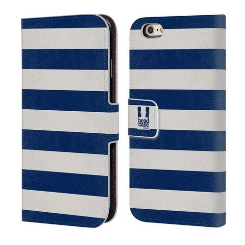 Head case Etui portfel na telefon - paski białe i niebieskie