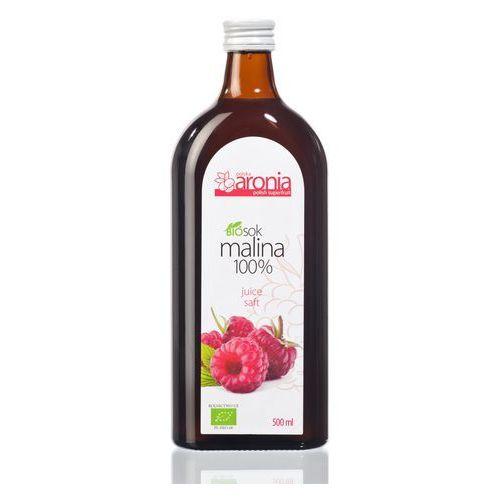 SOK MALINOWY 100 % BIO 500 ml - POLSKA ARONIA - produkt z kategorii- Napoje, wody, soki