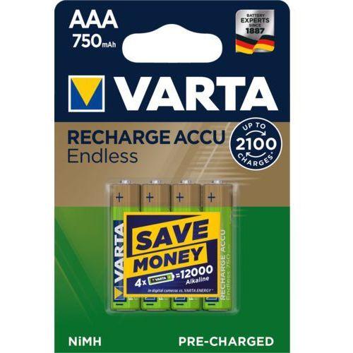 Varta baterie akumulatorki varta endless energy r2u aaa 750mah 4szt (4008496928330)