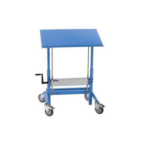 Stojak na materiały, nośność 250 kg, jasnoniebieski. Przechylne i ruchome. Do po