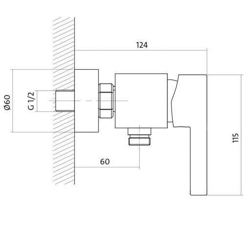 Bateria Cersanit Cersanit luvio s951-037 (chrom) S951-037