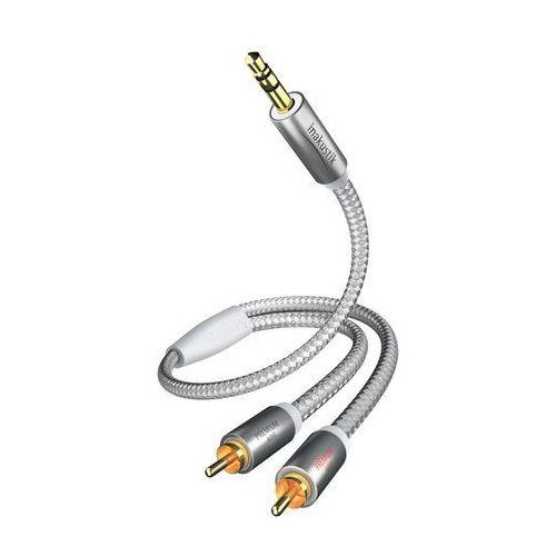 Kabel audio, Cinch / Jack Inakustik 00410005, [2x złącze męskie cinch - 1x złącze męskie jack 3,5 mm], 5 m, biały, srebrny, 410005