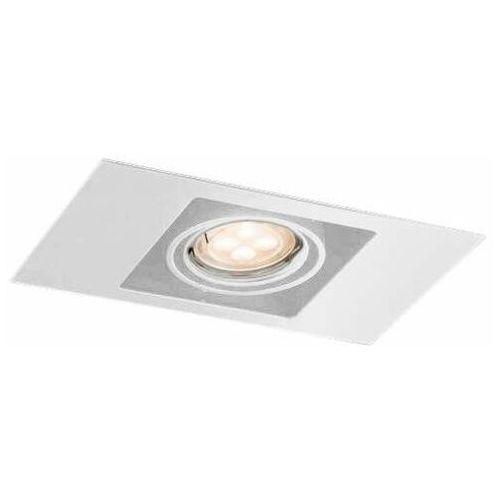 Spot LAMPA sufitowa EBINO 7315 Shilo podtynkowa OPRAWA metalowe OCZKO prostokątna wpust biały (5903689973151)