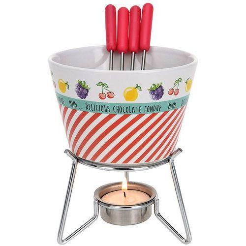 Ceramiczny zestaw do czekoladowego fondue dla 4 osób marki Eh excellent houseware