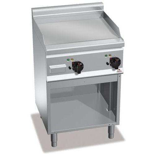 Płyta grillowa, elektryczna, ze stali chromowanej, gładka, wolnostojąca, 8 kW, 600x600x900 mm   BERTO'S, Plus 600, POWERED HARD CHROME, E6FL6MP-2/CR
