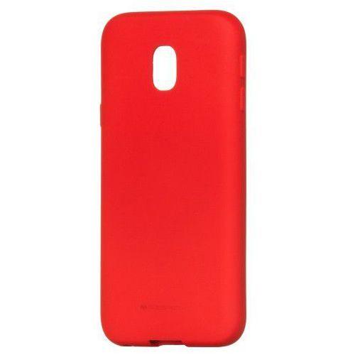 Etui Mercury Goospery Soft Feeling Case żelowe Samsung Galaxy J7 2017 J730 czerwone, kolor czerwony