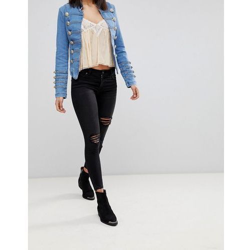 Free People Shark Bite Skinny Jeans - Black