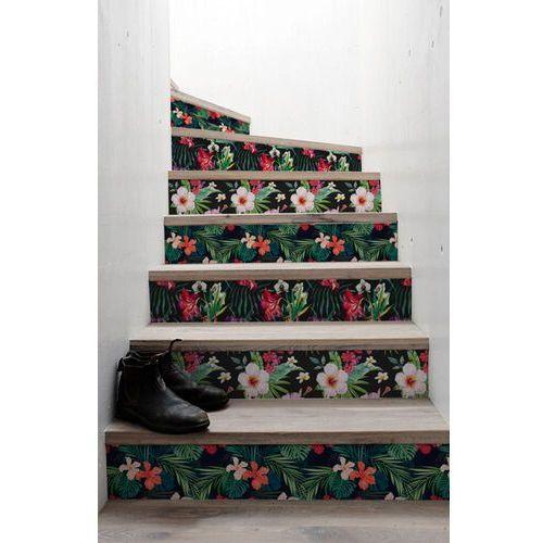 Naklejki na schody tropikalne kwiaty marki Coloray.pl