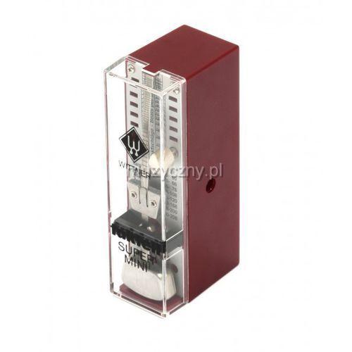 Wittner 884051 903012 super mini metronom mechaniczny bez akcentu, kolor czerwony rubin