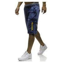 Krótkie spodenki jeansowe męskie granatowe Denley HY187, jeans