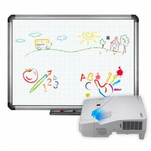 Tablica truboard r5-800e+ projektor ultrashort nec um301x z uchwytem marki Interwrite