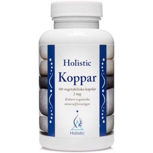 Holistic Koppar Miedź łatwo przyswajalne związki miedzi 2 mg 100 kaps. (7350012330675)