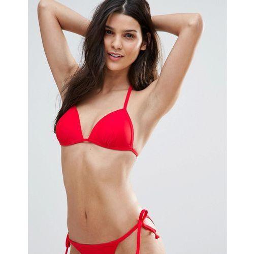 New Look Mix and Match Moulded Triangle Bikini Top - Red, bikini