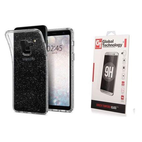 Zestaw | Spigen SGP Liquid Crystal Glitter Quartz | Obudowa + Szkło ochronne dla modelu Samsung Galaxy A8 2018