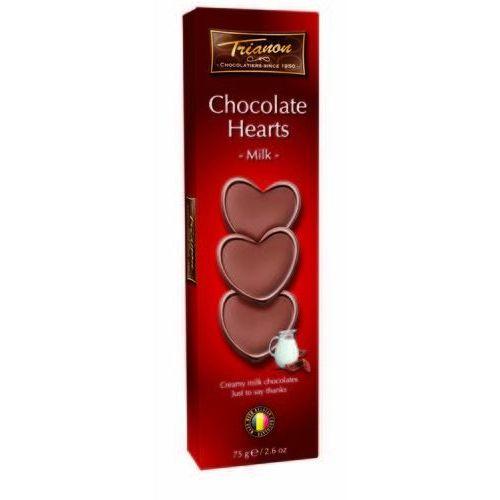 Trianon czekoladowe serduszka z mlecznej czekolady 75g