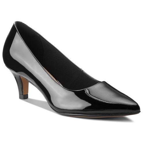 Półbuty CLARKS - Linvale Jerica 261381974 Black Patent Leather, kolor czarny