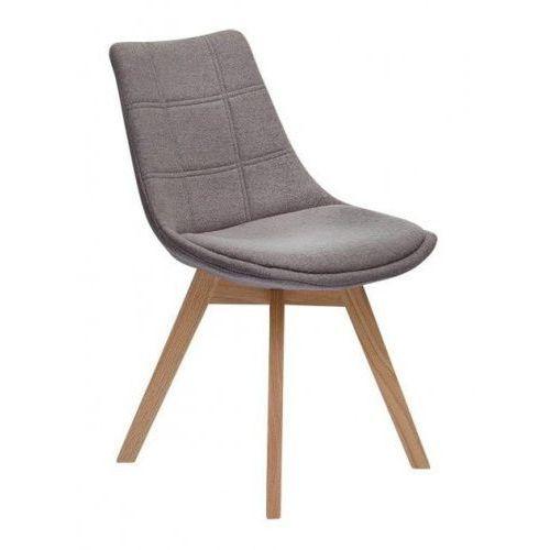 Krzesło Falster tapicerowane szary, kolor szary