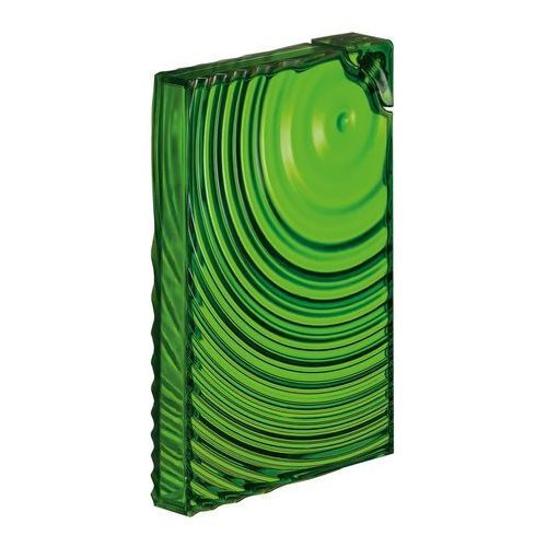 Butelka płaska ripples 0.5 l zielona marki Guzzini