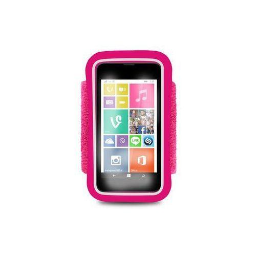 Puro  running band - uniwersalna frotka do biegania do smartfonów max 4.3 + key pocket (różowy) odbiór osobisty w ponad 40 miastach lub kurier 24h