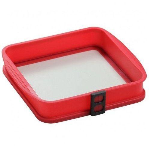 Forma silikonowa ze szklanym dnem Delice Red 24 x 24 cm AMBITION (5904134973382)