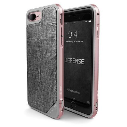 X-doria defense lux etui aluminiowe iphone 8 plus / 7 plus (rose gold/grey)