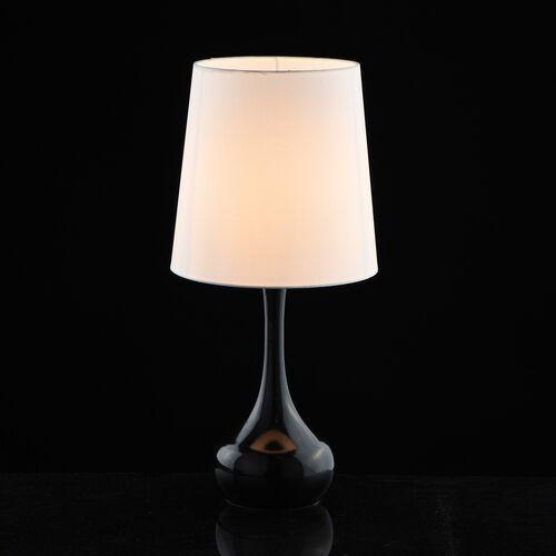 Elegancka lampka stołowa czarna z białym abażurem Salon MW-LIGHT Elegance (415033601) (4250369182251)
