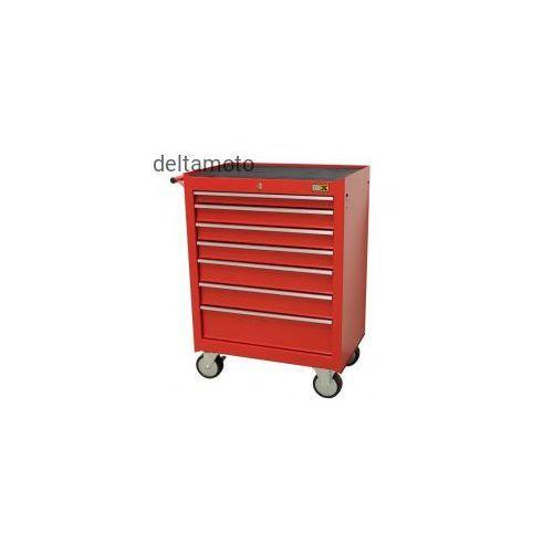 Toolbox4you Szafka narzędziowa mobilna bez narzędzi – 7 szuflad, czerwona