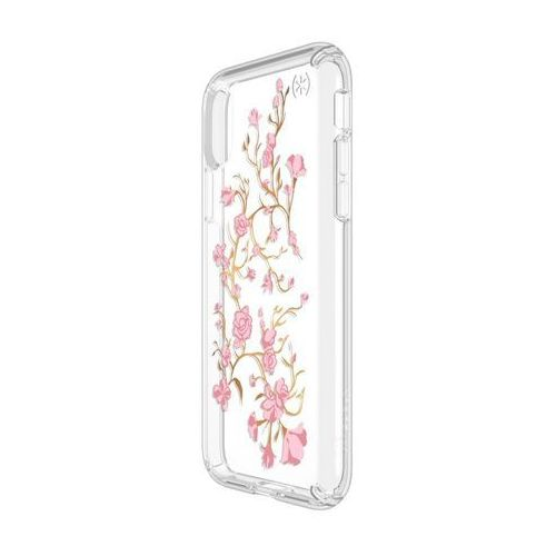 Speck Presidio Clear with Print - Etui iPhone X (Goldenblossoms Pink/Clear), kolor różowy