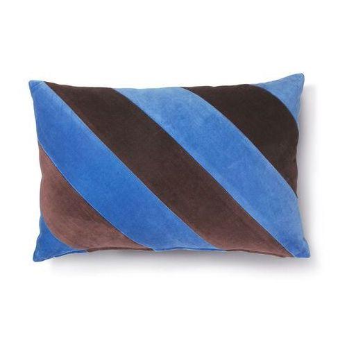 Hk living poduszka velvet w paski niebieski/fioletowy (40x60) tku2082