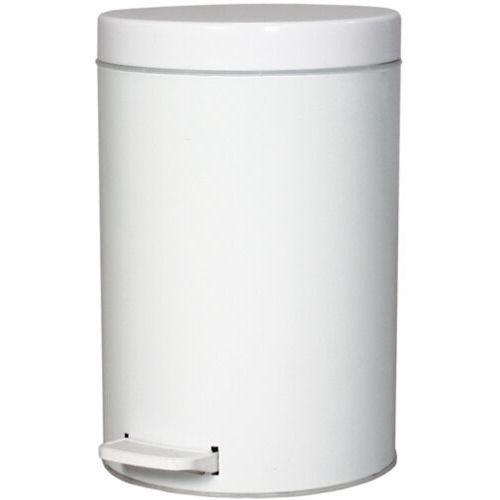 Biały kosz na śmieci metalowy 14 litrów otwierany pedałem Metalowy biały kosz na odpady, kolor biały