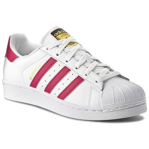 Adidas Buty - superstar foundation j b23644 ftwwht/bopink/ftwwht