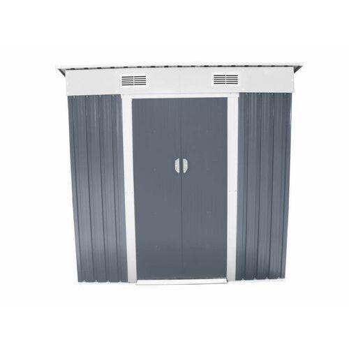 Hecht czechy Hecht 4x6 plus domek ogrodowy na narzędzia ciemnoszary wiata meble ogrodowe - ewimax oficjalny dystrybutor - autoryzowany dealer hecht (8595614908665)