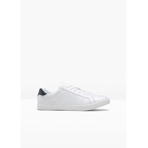 Sneakersy bonprix biało-czarny, kolor biały