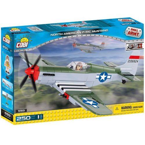 Zabawka Cobi Cobi, Small Army, samolot P-51 Mustang, klocki, 260 elementów Cobi, Small Army, samolot P-51 Mustang, klocki, 260 el. Cobi, Small Army, samolot P-51 Mustang, klocki, 260 el. z kategorii [klocki dla dzieci]