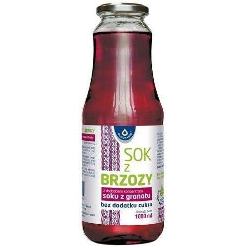 Sok z brzozy z dodatkiem koncentratu soku z granatu bez dodatku cukru 1000ml marki Oleofarm