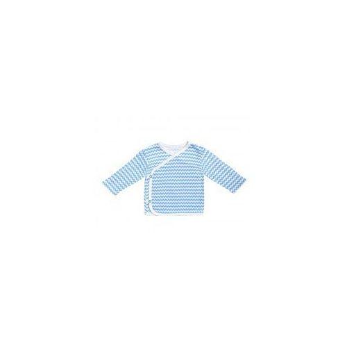 Kaftanik kopertowy niebieskie zygzaki marki Dolce sonno