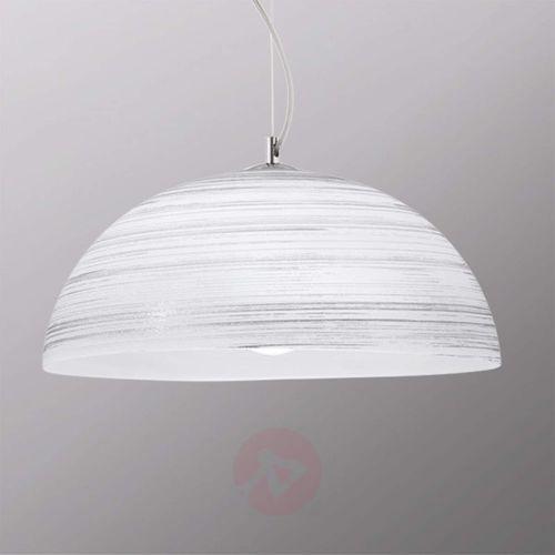 Viokef Ręcznie zdobiona lampa wisząca modesto, biała