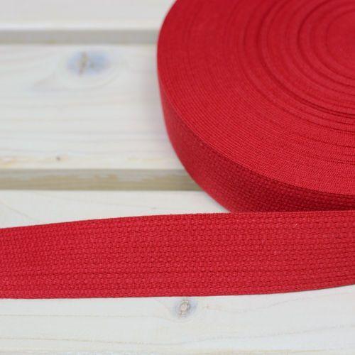 Taśma nośna bawełniana 30mm czerwony jasny marki Sprzedajemytkaniny-1