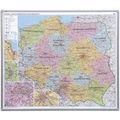 Tablica mapa officeboard – mapa administracyjna polski 102,5x120cm, płyta miękka marki 2x3