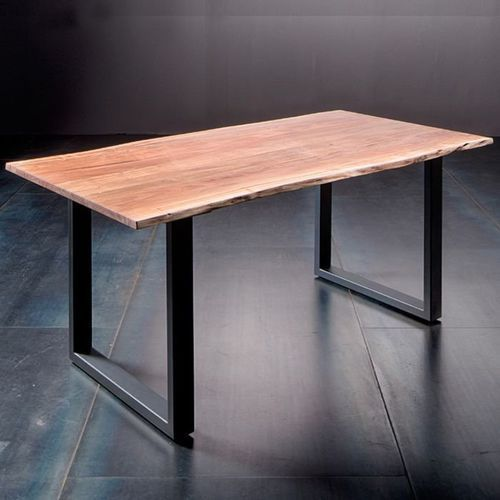 Fato luxmeble Stół catania obrzeża ciosane natur, 200x100 cm grubość 5,5 cm