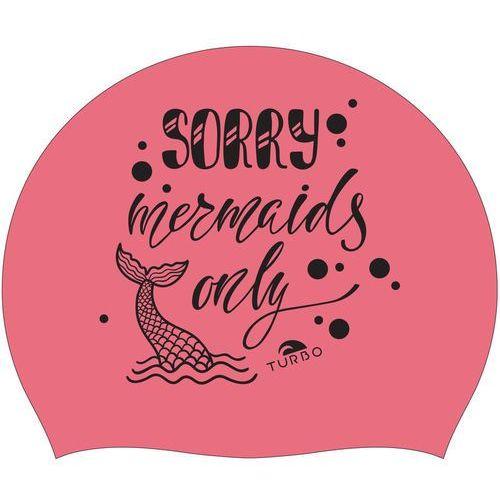 Turbo Sorry Mermaids Only Czepek pływacki różowy 2018 Czepki pływackie