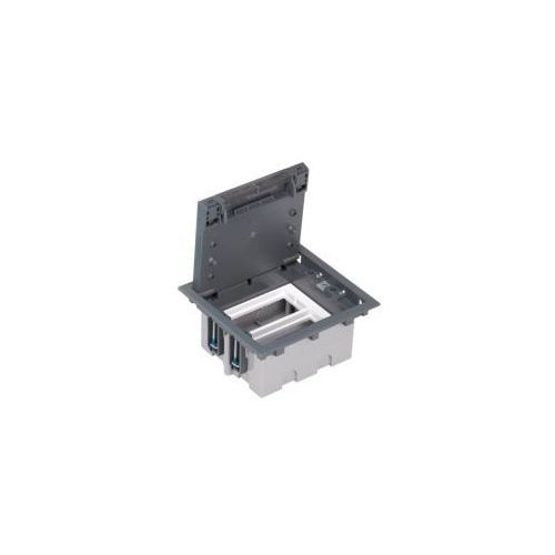 Puszka podłogowa 4 modułowa pogłębiana, SF210/1 + S66/9 + S66/9