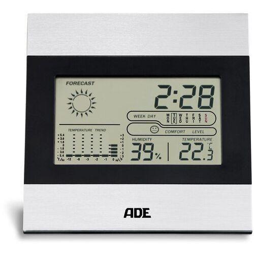 ADE - termometr pokojowy z higrometrem (wymiary: 13 x 2 x 13 cm) (4260336178736)